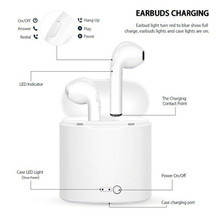 I7s TWS Bluetooth Earphone Stereo Earbud  Headset with Charging Pod Wireless Headsets for All Smart Phone 2018 new i7s earphone binaural wireless bluetooth headset tws earphone with charging bin plating headphones for i7s plus