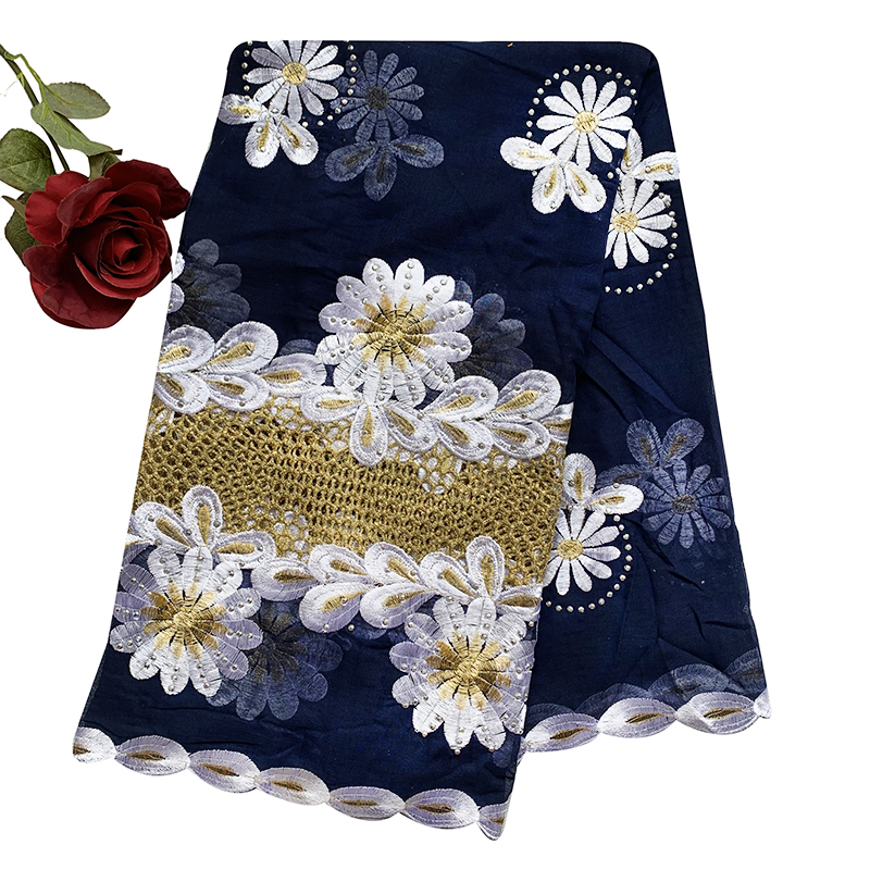 African Women Special Scarfs Muslim Women Embroidery 100% Cotton Scarf Party Wedding Scarf  BM904