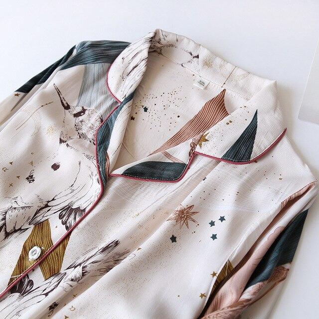 pajamas suit simple style long 5