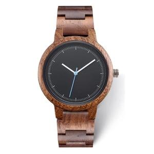 Image 1 - 2020 Private Label Fashion Eco friendly Custom Logo Luxury Black Copper Dial Woman Wood Walnut Watch for Lady