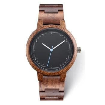 2020 Private Label Fashion Eco-friendly Custom Logo Luxury Black Copper Dial Woman Wood Walnut Watch for Lady
