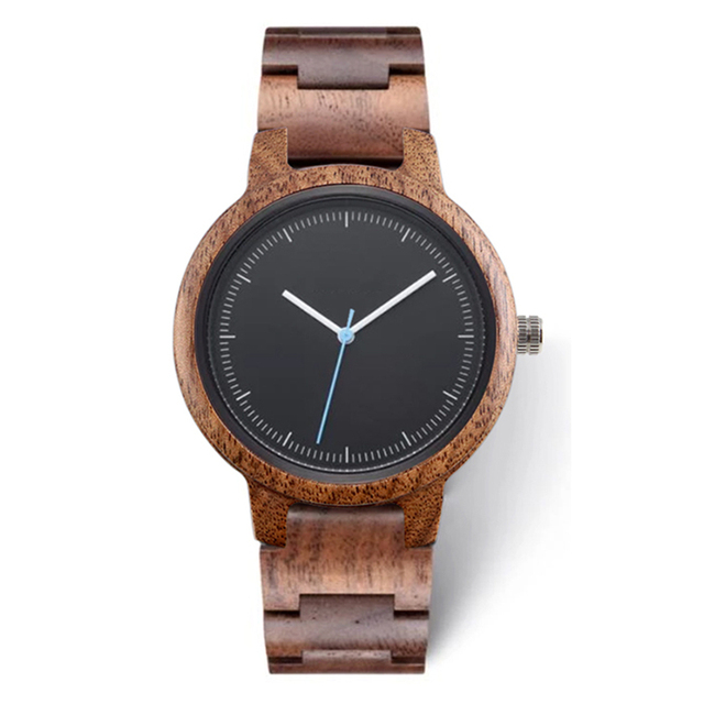 2020 Private Label Fashion Eco friendly Custom Logo Luxury Black Copper Dial Woman Wood Walnut Watch for Lady