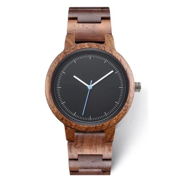 2020 Private Label Fashion Eco friendly Custom Logo Luxury Black Copper Dial Woman Wood Walnut Watch for Lady