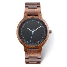 2020 Private Label Fashion Eco vriendelijke Custom Logo Luxe Zwart Koperen Wijzerplaat Vrouw Hout Walnoot Horloge Voor Lady