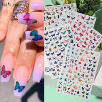 1pc Butterfly Adhesive Stickers Super Thin 3D Nail Art Nail Slider Sticker Decals Japanese Nail Accessories for Nail Decorations