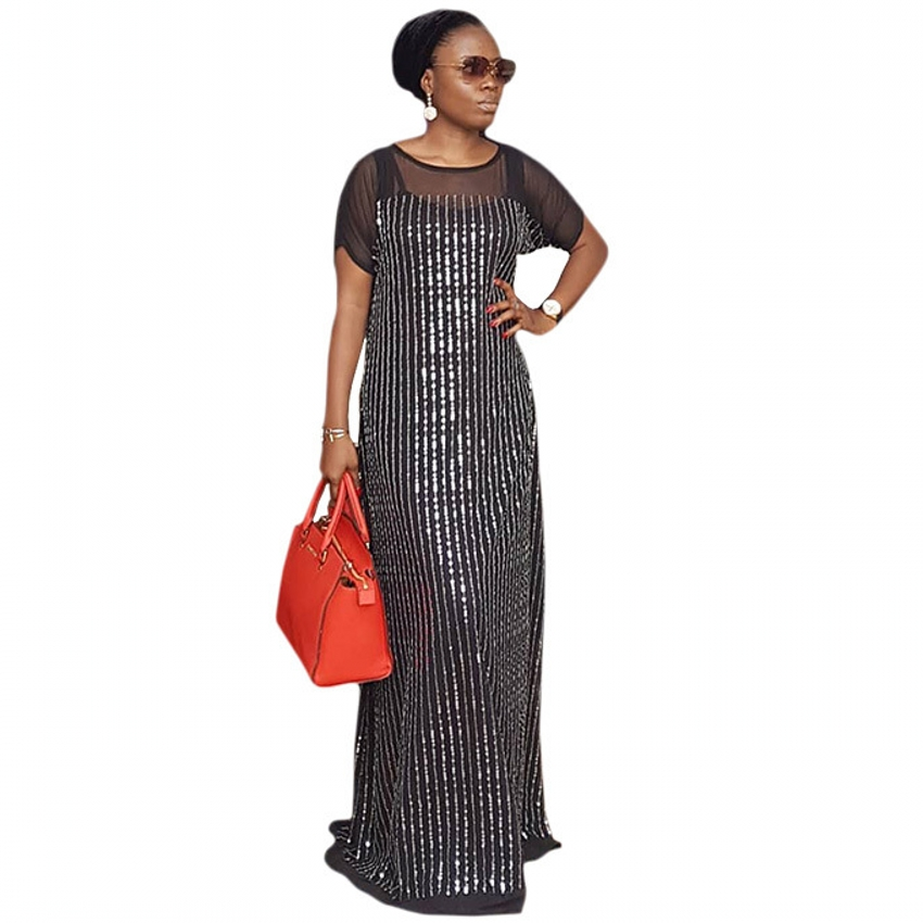 African Dresses For Women 2019 Black New African Women Clothing Fashion Africaine Robe Long Maxi Dress Africa Clothes