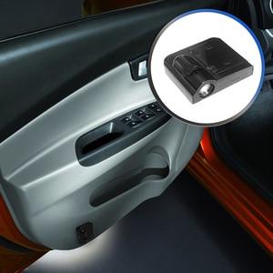Image 3 - 1pcs Universele Auto Led Auto Deur Lamp Draadloze Auto Deur Licht Projector LED Laser Lamp Auto Accessiories