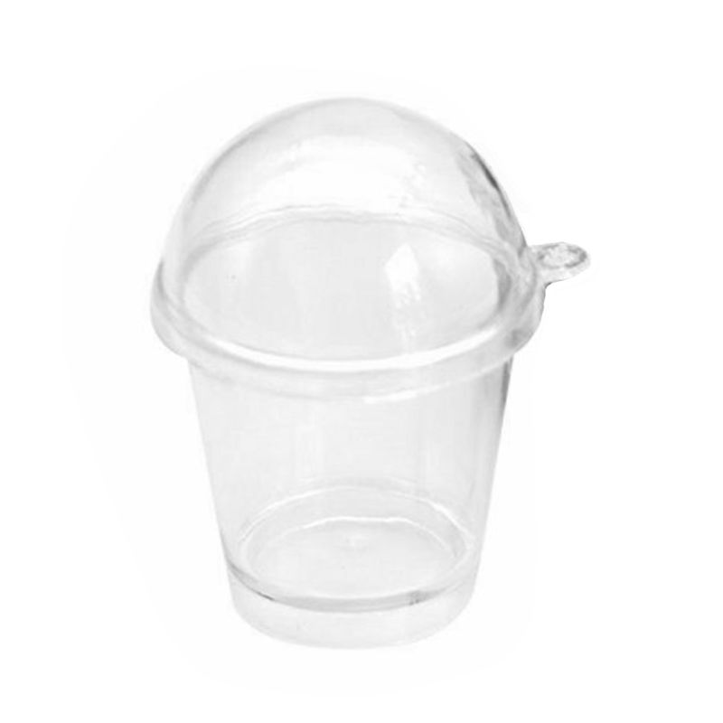 20pcs Mini Clear Cake Container Dessert Cups Mousse Jelly Pudding Tiramisu Cup N84E