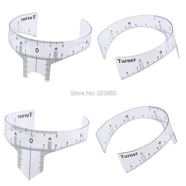 8 styles Eyebrow Rulers Tool Measures Microblading Permanent Makeup Eyebrow Guide Ruler Tattoo Position Ruler Eyebrow Stencils