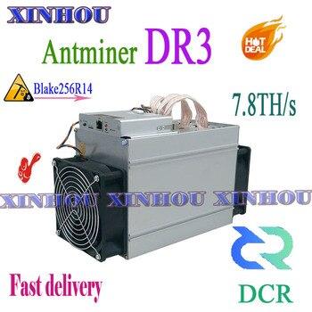 Used DCR Miner Antminer DR3 7.8TH/S Blake256R14 Asic Miner Better Than WhatsMiner D1 Innosilicon D9 FFMINER D18 S9 Z9 Z11 S17 T3