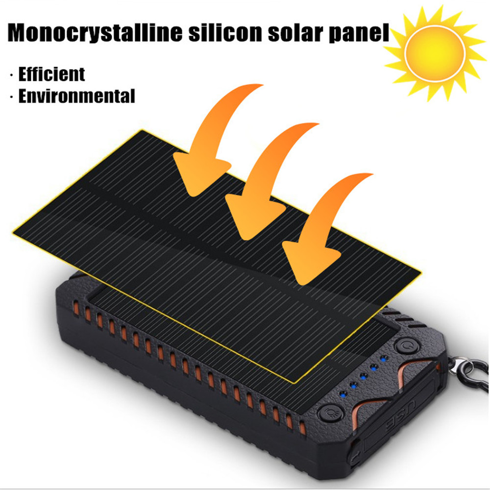 banco de energia solar 8000mah carregador usb