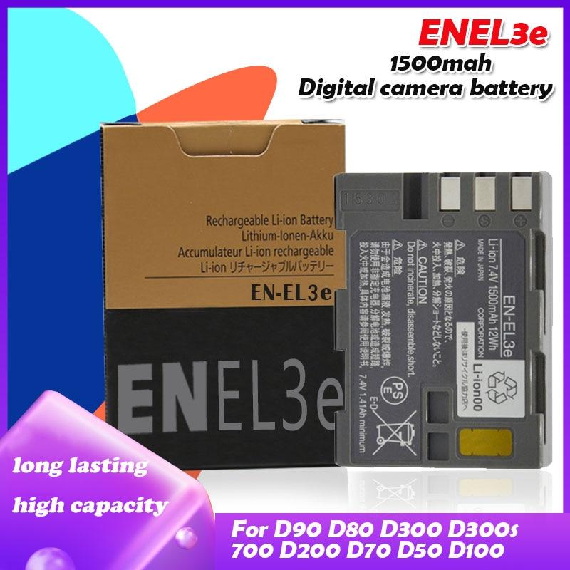 7.4V 1500mah EN-EL3e EN EL3e EL3a ENEL3e Rechargeable Batterie Pour Appareil Photo Nikon D300S D300 D100 D200 D700 D70S D80 D90 D50 L15