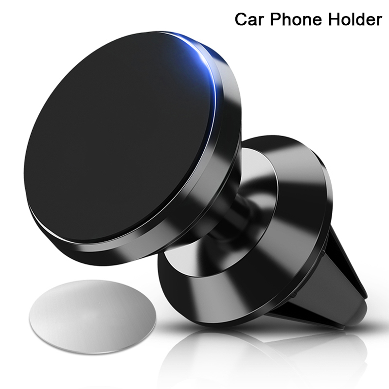 360 Rotable Air Vent Magnetic Holder For Mobile Phone In Car GPS Navigation Universal Bracket Stand Magnet Car Phone Holder