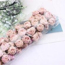 60 шт. новые искусственные розы маленький букет свадебный цветок для невесты цветок Рождество дома гостиной украшения цветок