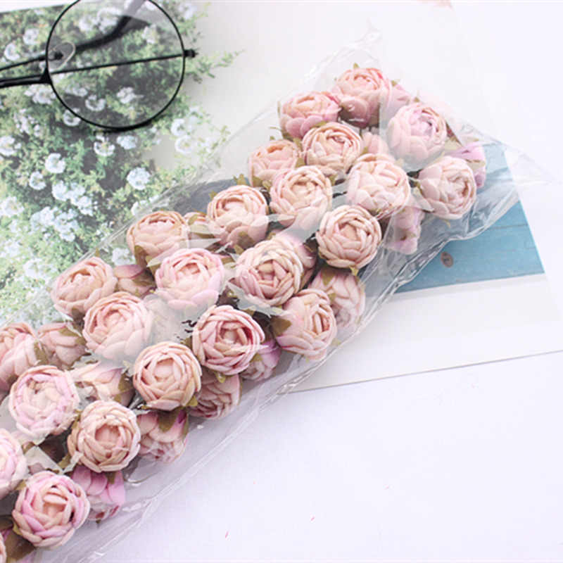 60pcs new artificial rose small bouquet bride wedding flower flower Christmas home living room decoration flower