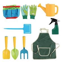 Spray-Bottle Gardening-Tools-Set Kids for Boys Girls 9pcs Shovels-Rake Apron Watering-Can
