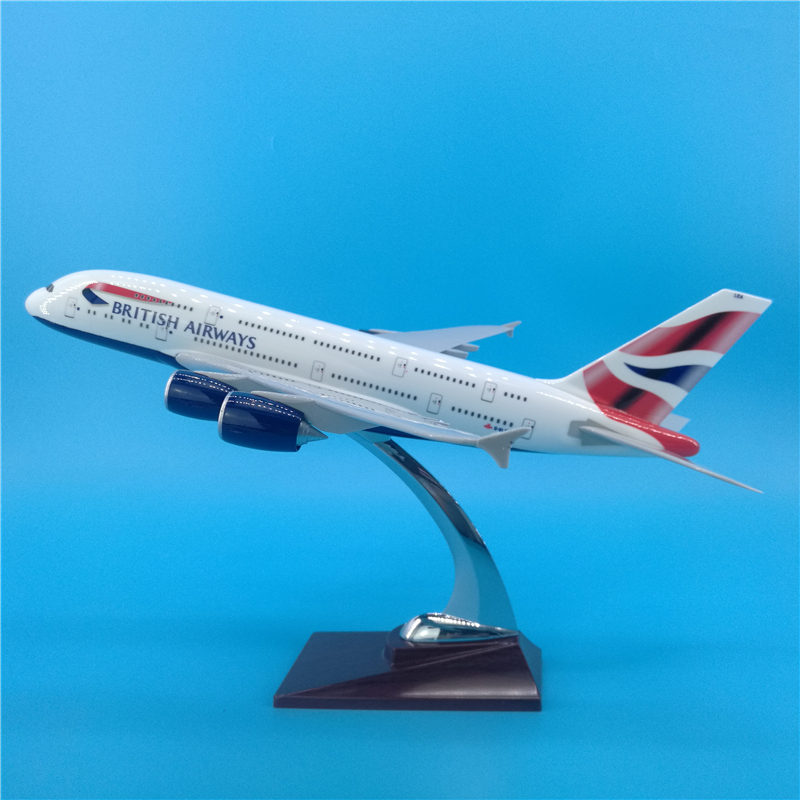 <font><b>1</b></font>: <font><b>200</b></font> scale 36CM simulation A380 British Airways passenger aircraft alloy die-cast aircraft <font><b>model</b></font> display toy gift collection image