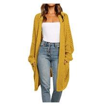 Outono inverno retalhos camisola casaco cardigan manga longa frente aberta malha blusas casaco bolsos casaco sólido casual topo mujer #30