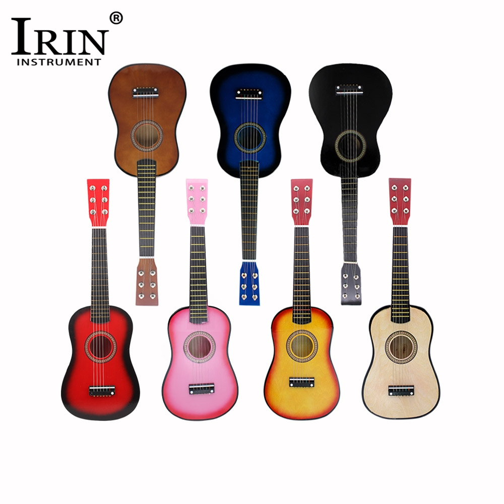 IRIN 21/23Inch Mini Guitar Solid Wood Body With Guitar Strings PIckup For Children For Beginner Small Acoustic Guitar