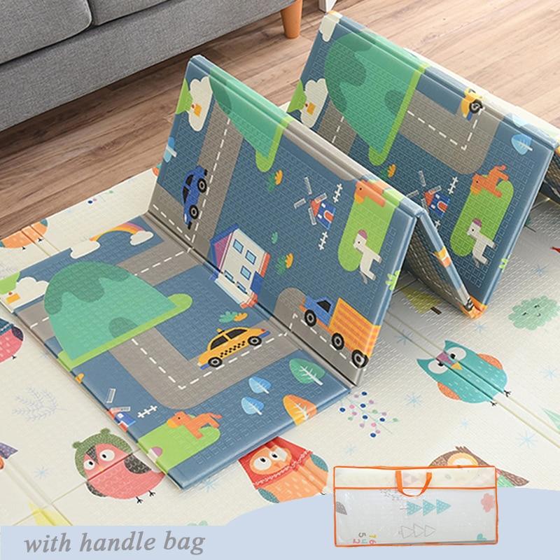 מתקפל תינוק לשחק מחצלת מעובה Infantil בית תינוק חדר תפאורה שטיח הילדים Cartoon ילדים שטיח משחק פאזל פיתוח מחצלות