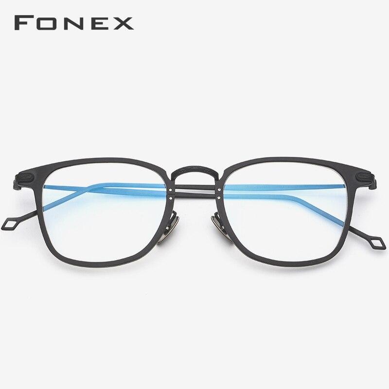 Pure Titanium Eyeglasses Frame Men Polarized Sunglasses Clip On Sun Glasses For Women Square Optical Glasses Frames Eyewear 503