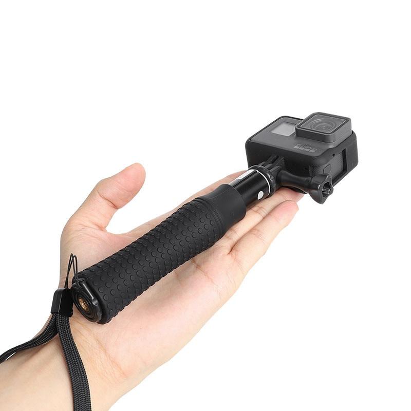 Extendable Waterproof Selfie Stick Monopod Hand Grip Tripod Holder for GoPro Hero 8 7 6 5 SJCAM Yi 4K Action Camera Accessories-0