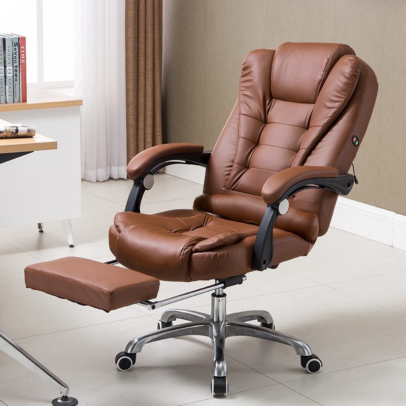Computer Chair Boss Chair Genuine Leather Can Lie Household To Work In An Office Lift Massage Chair Desk Chair You Rc - 09 - 2