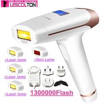 100% originale Lescolton 5in1 1300000 Pulsata IPL Dispositivo di Rimozione Permanente Dei Capelli del Laser di Rimozione Dei Capelli di IPL laser Epilatore Ascella