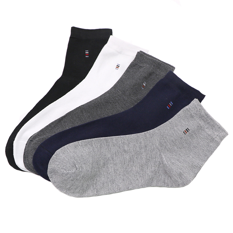 5 Pairs Men Socks Solid Color Cotton Classical Businness Casual Socks Summer Autumn Excellent Quality Breathable Male Sock Meias