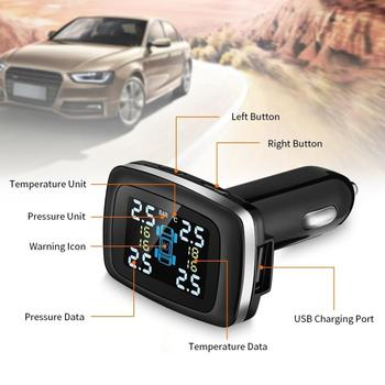 цена на Vehicle tire pressure detector Digital display TPMS LCD Wireless Car Tire Pressure Monitoring System with External Sensor Kit