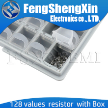 128grid SMT SMD sample box 0402 0603 0805 1206 1% 5% SMD Resistor capacitor Accept the fixed value
