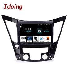 "Idoing 10,2 ""1Din coche Android Radio reproductor Multimedia para Hyundai Sonata 2011-2015 navegación GPS y Glonass 4G + 64G 8Core DSP"