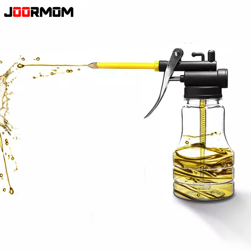 1pcs Oil Filling Equipment 300ML Transparent High Pressure Pump Oiler Lubrication Oil Can Plastic Machine Oil Pot Ordinary Hose