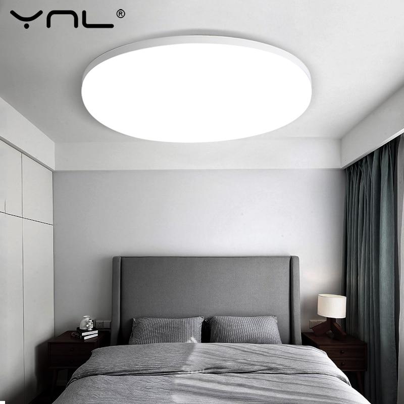 LED Panel lámpara LED luz de techo AC 85-265V 48W 36W 24W 18W 13W 9W 6W iluminación del hogar dormitorio sala de estar moderna lámpara de techo