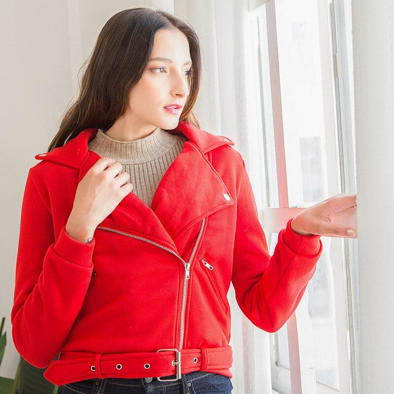 2019 Autumn Winter Fashion Loose Women Coat Slim Outerwear Feminine Warm Hooded Jacket Zipper Short Streetwear