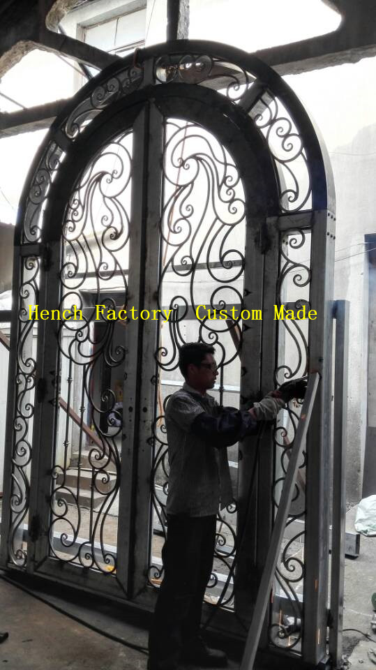 Shanghai Hench Brand China Factory 100% Custom Made Sale Australia Designer Iron Door