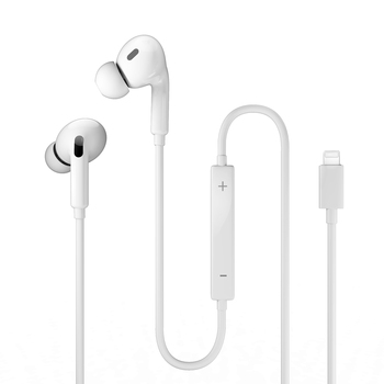 Lightning Wired Earphone In-ear Earphones with microphone Wired Sport Music Stereo Earbuds Super Bass Hifi Headset for iPhone