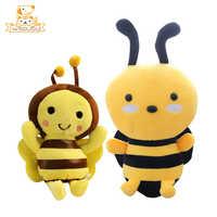 Kawaii Bee Girls Plush Stuffed Toys Cartoon Animals Honeybee Cute Dolls Soft Figure For Children Kids Beautiful Gifts Adorable