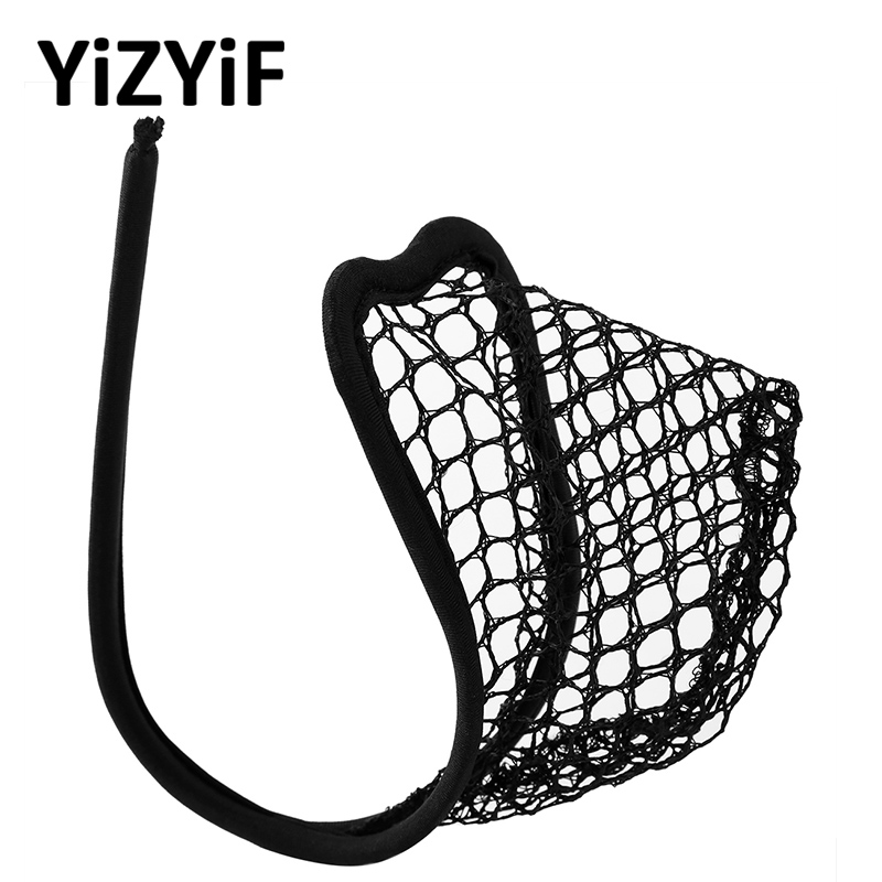 Mens C-String Fishnet Underwear Sissy Panties Mini Lingerie See Through Sheer Mesh Male Bulge Pouch C-String Briefs Underwear