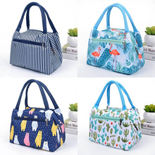 Flamingo Picnic Bags Women Lunch Box Portable Insulated Thermal Cooler Waterproof Zipper Beach Bag For Woman Student Kids