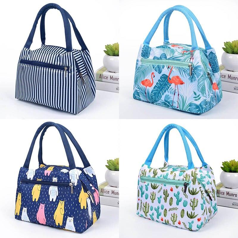 Flamingo Picnic font b Bags b font Women Lunch Box Portable Insulated Thermal font b Cooler