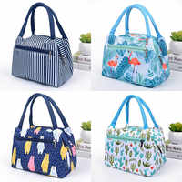 Flamingo Picnic Bags Women Lunch Box Portable Insulated Thermal Cooler Waterproof Zipper Beach Lunch Bag For Woman Student Kids