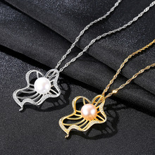 S925 Silver Necklace Natural Freshwater 4A Grade Pearl Korean Edition Jewelry Fashion Womens