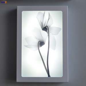 Image 4 - Fashion Arts Painting Wall Lamp Sconce12W Acrylic Modern Flower Wandlamp Bedroom Lights Fixture Stairs Applique Murale Luminaire