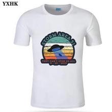 Alien T Shirt I Dont Believe In Humans Black Cotton Men T-shirt Cartoon Fashion Pattern Storm Area 51 White T-shirts EU Size