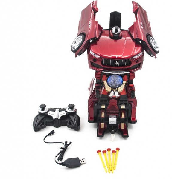 RC Transformer Maserati Levante Red-MZ-2392PF Robot