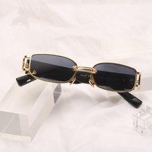 2020 óculos de sol estrela mesmo estilo vestindo brincos pequenos óculos de sol rua fotografia tendência legal moda viagem essencial uv400