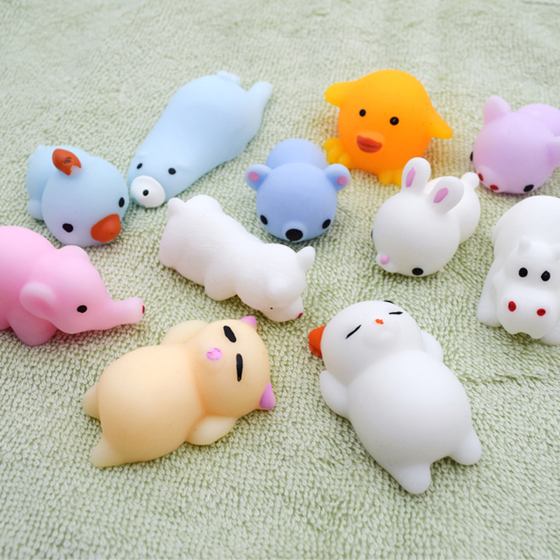 41 models Squeeze toys Mini Change Color Squishy Cute animals Anti-stress Ball Squeeze Soft Sticky Stress Relief Funny Gift Toy(China)