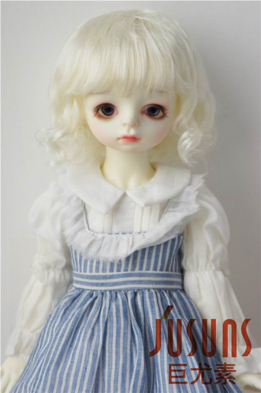 Image 2 - JD260 Large Size 9 10 inch 10 11inch Doll Wig Pretty synthetic mohair BJD wigs Lady slight Wave doll hair doll accessoriesDolls Accessories   -