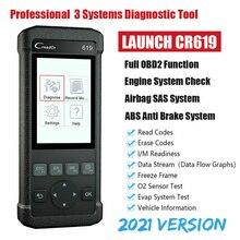 Uruchom Airbag SRS skaner CR619 OBD2 czytnik kodów silnika OBD 2 Auto skaner ABS diagnozowanie narzędzie bezpłatna aktualizacja uruchom akcesoria samochodowe
